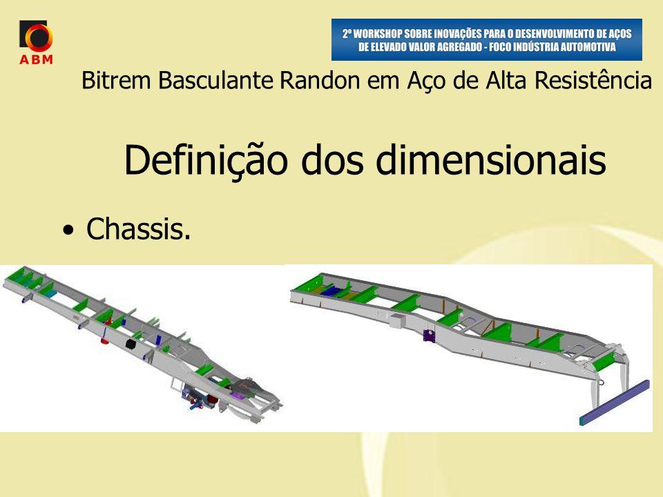 Chassis. Definição dos dimensionais Bitrem Basculante Randon em Aço de Alta Resistência