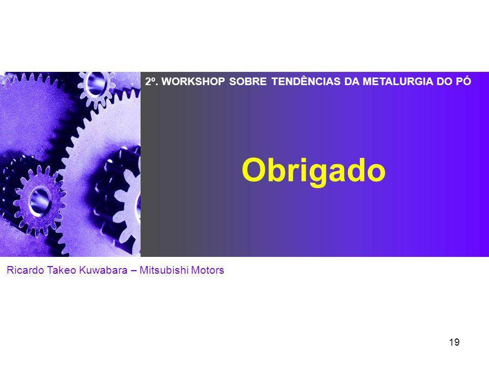 19 2º. WORKSHOP SOBRE TENDÊNCIAS DA METALURGIA DO PÓ Ricardo Takeo Kuwabara – Mitsubishi Motors Obrigado