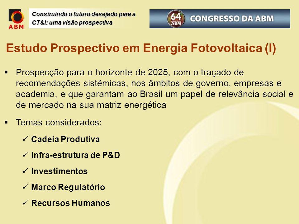 Construindo o futuro desejado para a CT&I: uma visão prospectiva Prospecção para o horizonte de 2025, com o traçado de recomendações sistêmicas, nos â