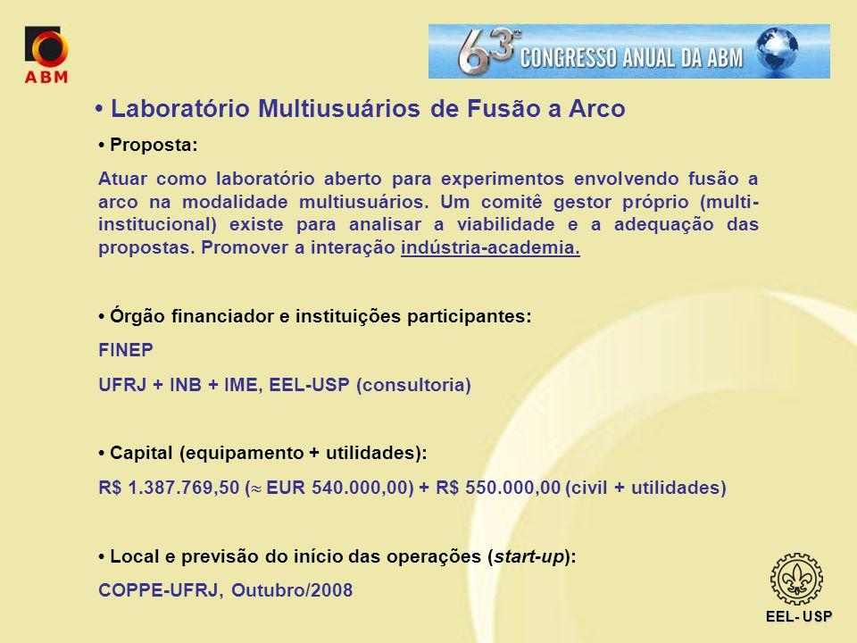 Laboratório Multiusuários de Fusão a Arco Proposta: Atuar como laboratório aberto para experimentos envolvendo fusão a arco na modalidade multiusuário