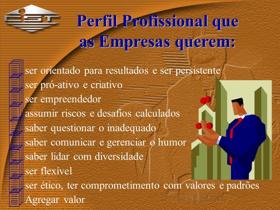 Demandas Técnicas das Organizações: 4 nível de escolaridade e especialidade 4 aprendizagem e carreira global 4 desenvolvimento contínuo (cursos sequenciais) 4 aprender a aprender (educação a distância) 4 língua estrangeira