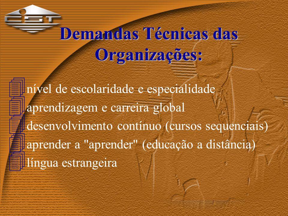 Relacionamento com a Empresa: Formação Técnica Formação Universitária Estágio na Empresa Trainee na Empresa Integração escola x empresa Sedimentação p