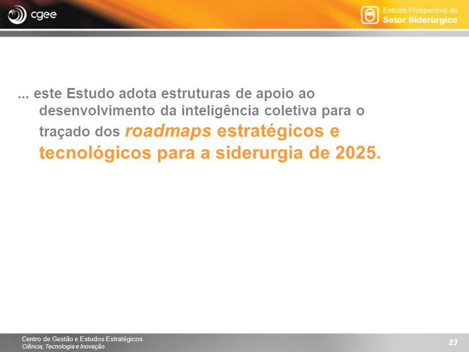 Centro de Gestão e Estudos Estratégicos Ciência, Tecnologia e Inovação 23... este Estudo adota estruturas de apoio ao desenvolvimento da inteligência