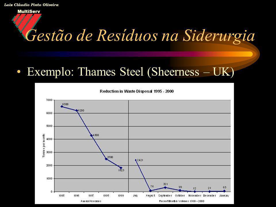 MultiServ Luiz Cláudio Pinto Oliveira Exemplo: Thames Steel (Sheerness – UK) Gestão de Resíduos na Siderurgia