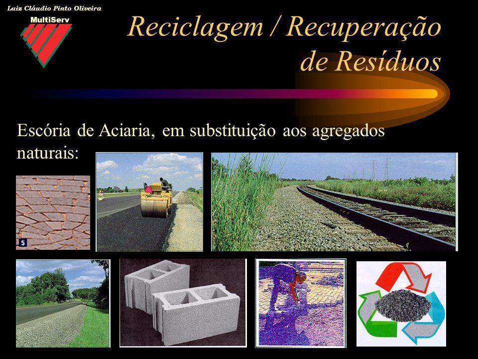 MultiServ Luiz Cláudio Pinto Oliveira Reciclagem / Recuperação de Resíduos Escória de Aciaria, em substituição aos agregados naturais: