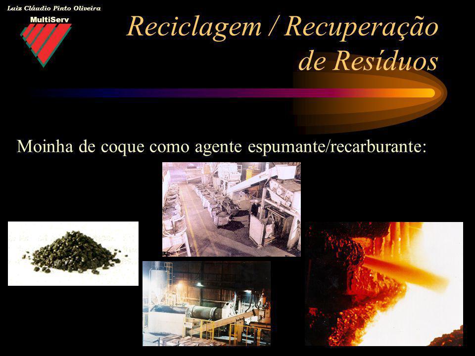 MultiServ Luiz Cláudio Pinto Oliveira Reciclagem / Recuperação de Resíduos Moinha de coque como agente espumante/recarburante: