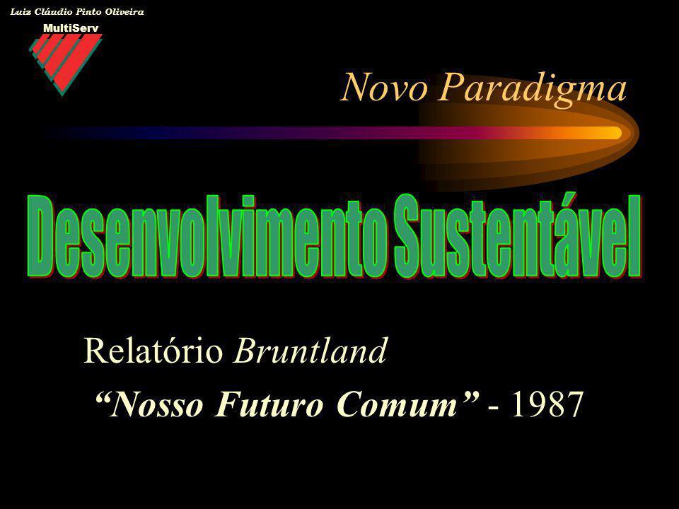 MultiServ Luiz Cláudio Pinto Oliveira Mecanismos de Sustentabilidade Gestão Ambiental na Indústria –Eco-eficiência –Códigos Voluntários Atuação responsável (indústria química) –Sistemas de Gestão Ambiental –ISO 14.001 (SGA) –ISO 14.040 (Análise do Ciclo de Vida) –Produção Mais Limpa