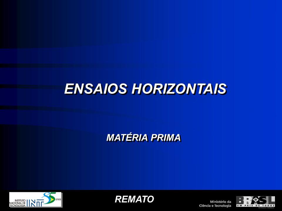 REMATO ENSAIOS HORIZONTAIS MATÉRIA PRIMA ENSAIOS HORIZONTAIS MATÉRIA PRIMA