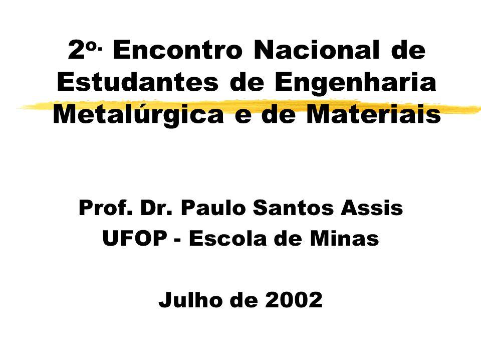 2 o.Encontro Nacional de Estudantes de Engenharia Metalúrgica e de Materiais Prof.