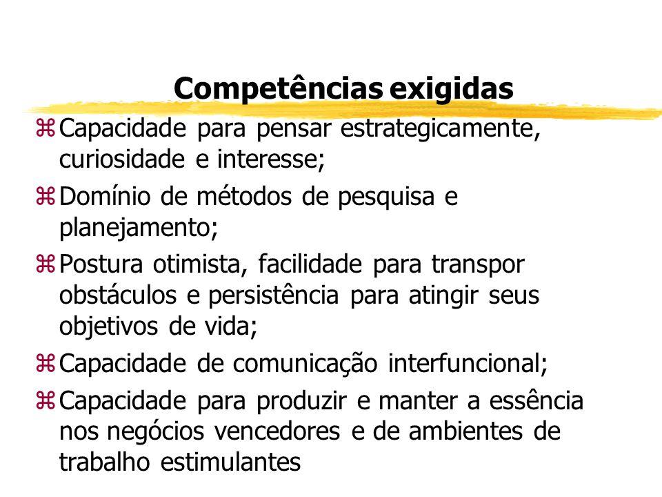 Competências exigidas zComportamento ético; zCapacidade de relacionamento interpessoal e para trabalhar em equipe; zCapacidade para lidar com conflito