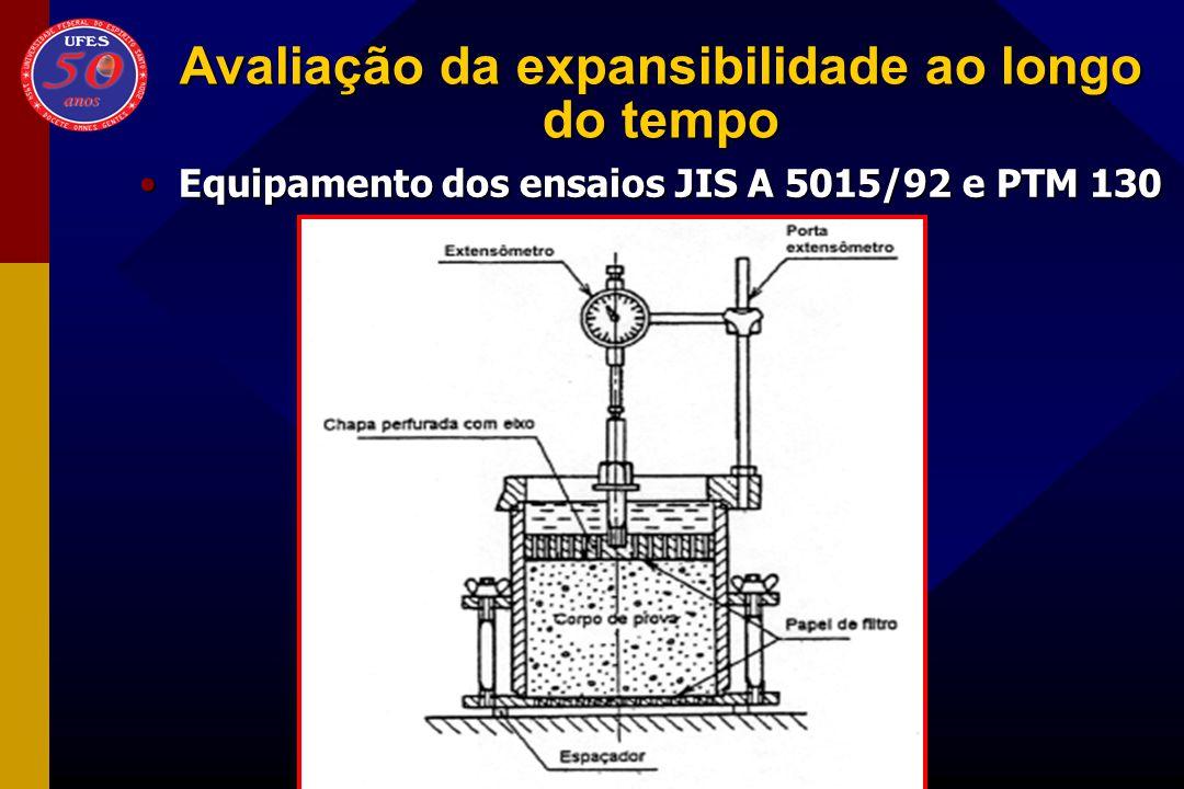 Equipamento dos ensaios JIS A 5015/92 e PTM 130Equipamento dos ensaios JIS A 5015/92 e PTM 130
