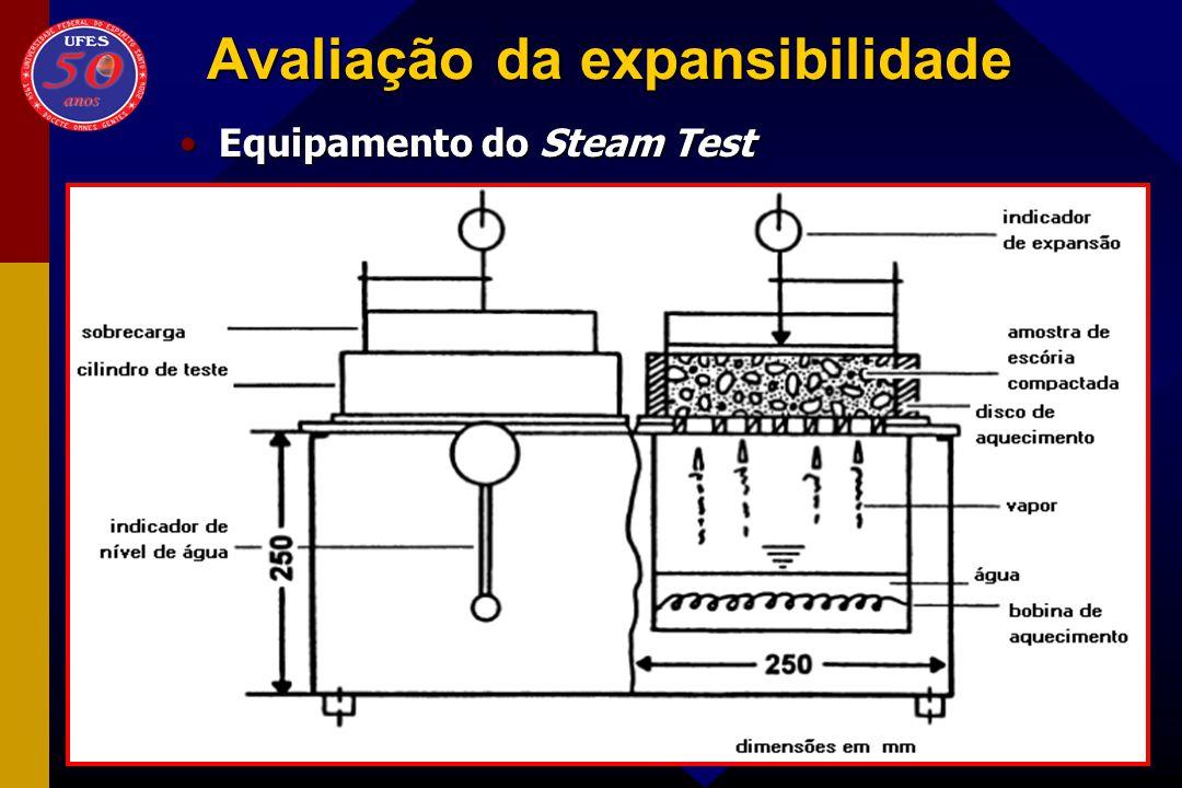 Avaliação da expansibilidade Equipamento do Steam TestEquipamento do Steam Test