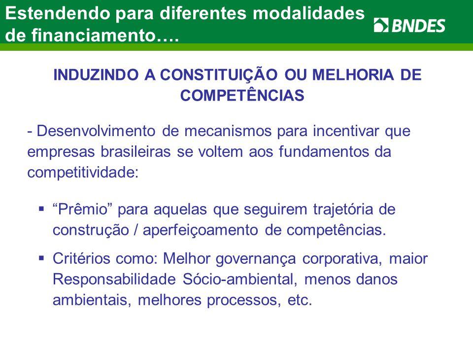 INDUZINDO A CONSTITUIÇÃO OU MELHORIA DE COMPETÊNCIAS Prêmio para aquelas que seguirem trajetória de construção / aperfeiçoamento de competências.