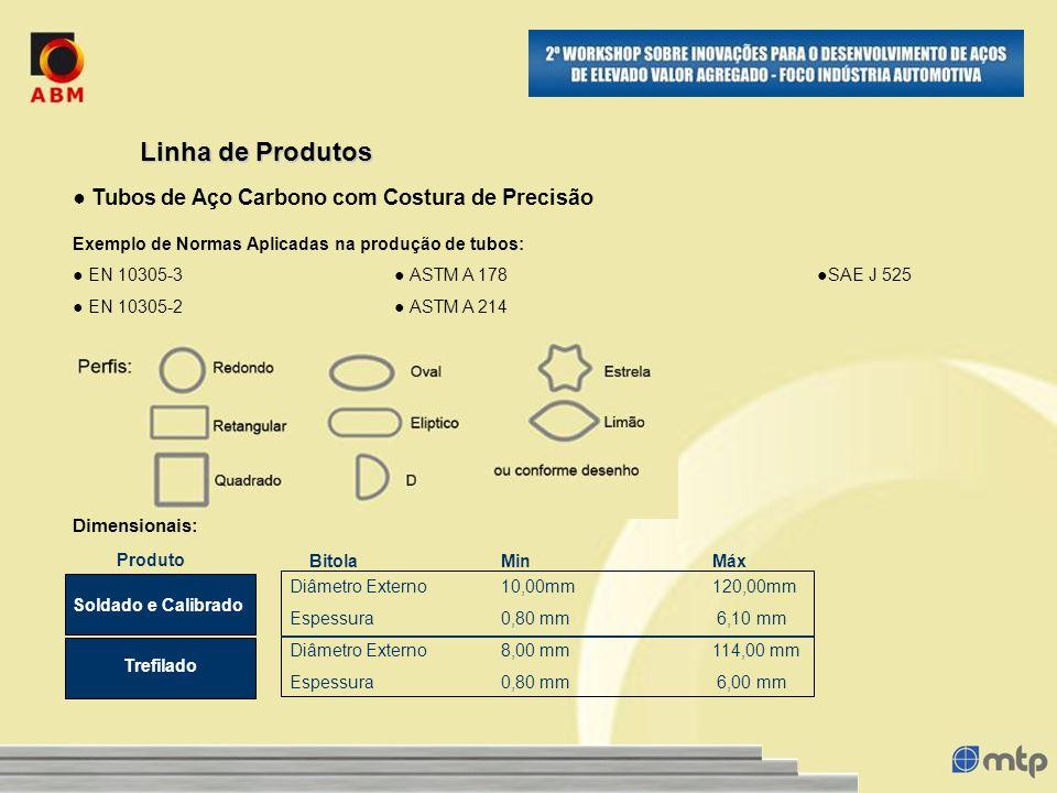 Dimensionais: Diâmetro Externo10,00mm120,00mm Espessura0,80 mm 6,10 mm Diâmetro Externo8,00 mm114,00 mm Espessura0,80 mm 6,00 mm Linha de Produtos Exe