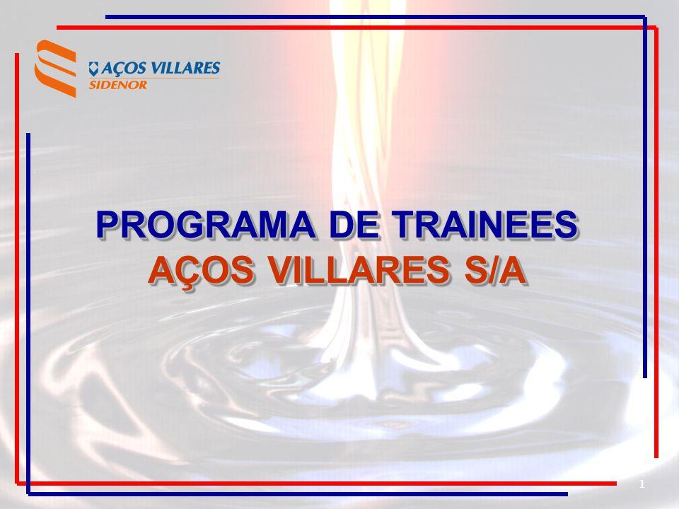 1 PROGRAMA DE TRAINEES AÇOS VILLARES S/A PROGRAMA DE TRAINEES AÇOS VILLARES S/A