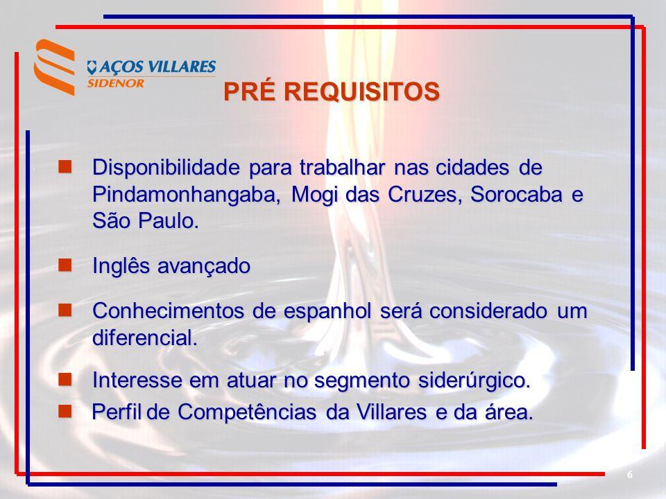 6 Disponibilidade para trabalhar nas cidades de Pindamonhangaba, Mogi das Cruzes, Sorocaba e São Paulo. Disponibilidade para trabalhar nas cidades de