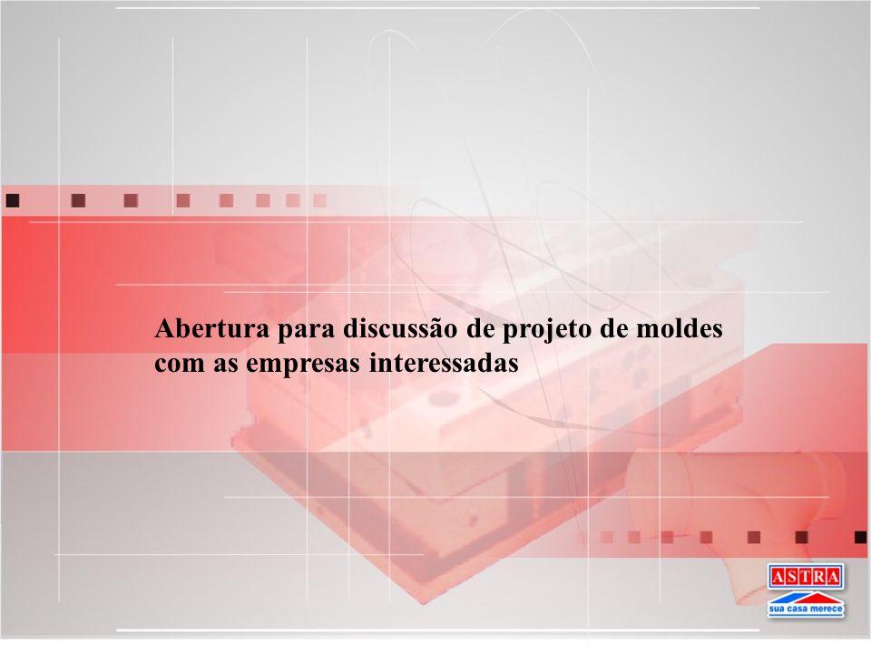 Seleção da Empresa para construir o molde Confirmação depende do projeto apresentado