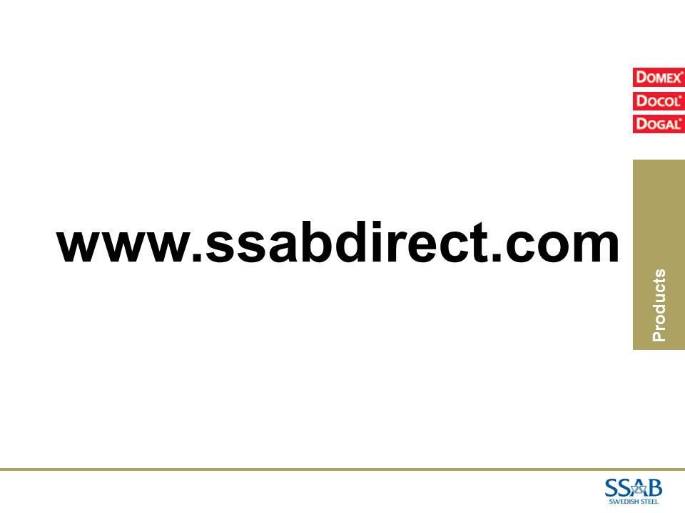 Products www.ssabdirect.com