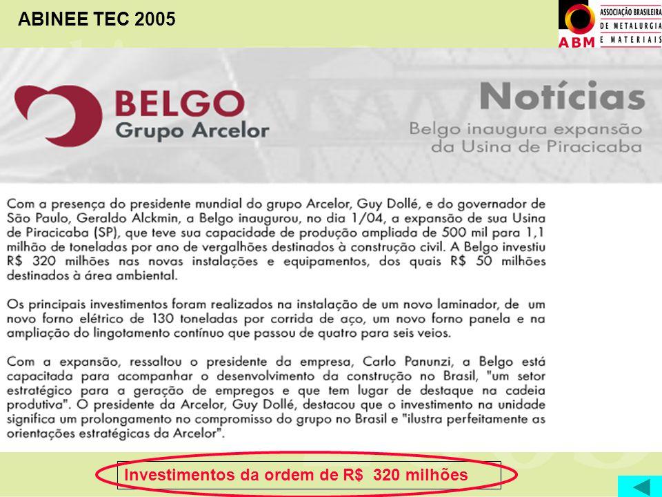 ABINEE TEC 2005 Investimentos da ordem de R$ 320 milhões