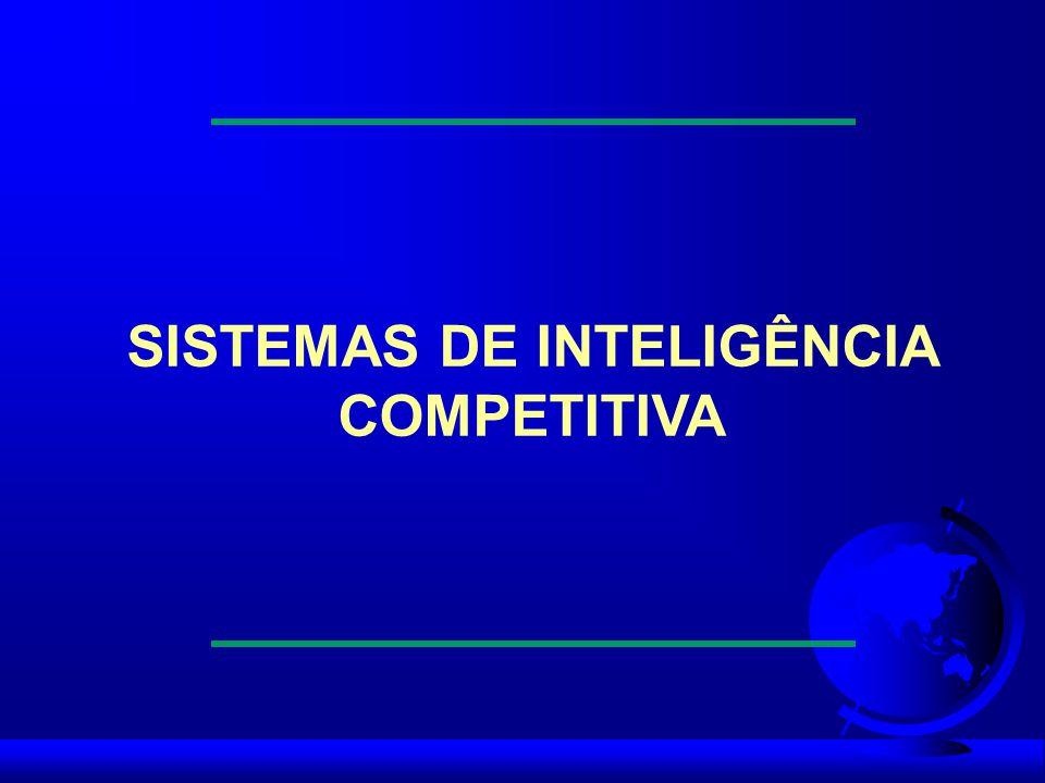 Definindo o spectrum de inteligência Indicadores de inteligência Depois de coletar os dados, estes deverão ser tratados de modo a se tornarem indicadores que orientarão no planejamento estratégico da empresa.
