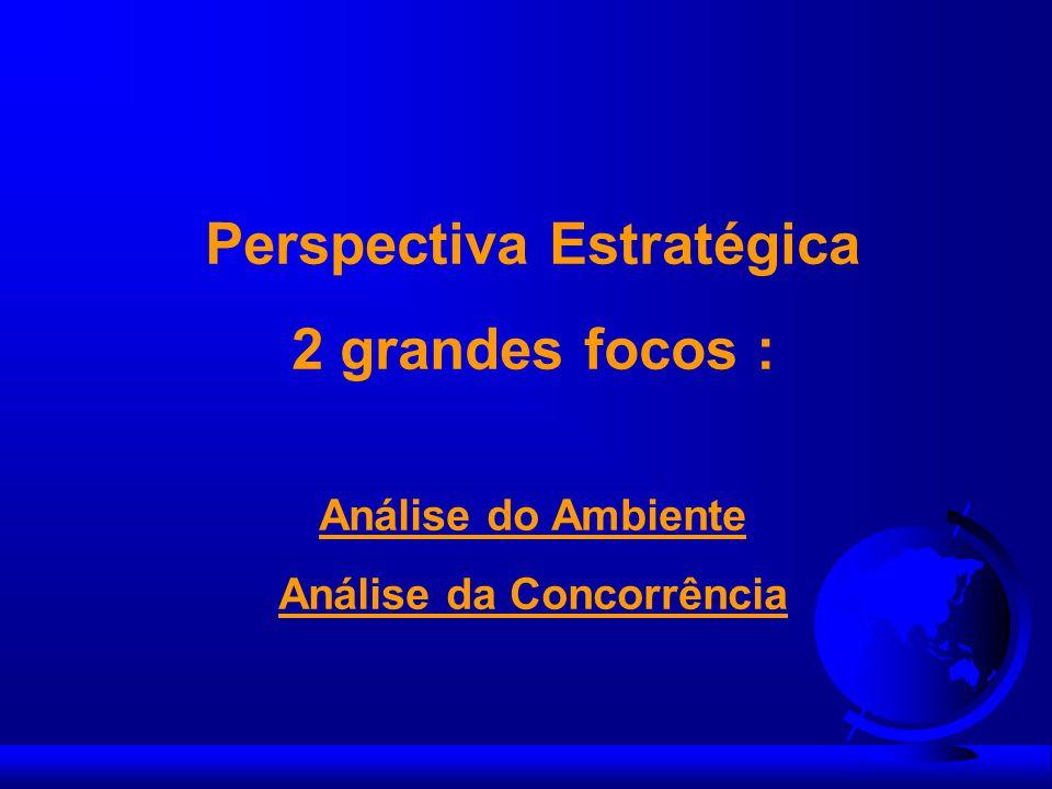 Perspectiva Estratégica 2 grandes focos : Análise do Ambiente Análise da Concorrência