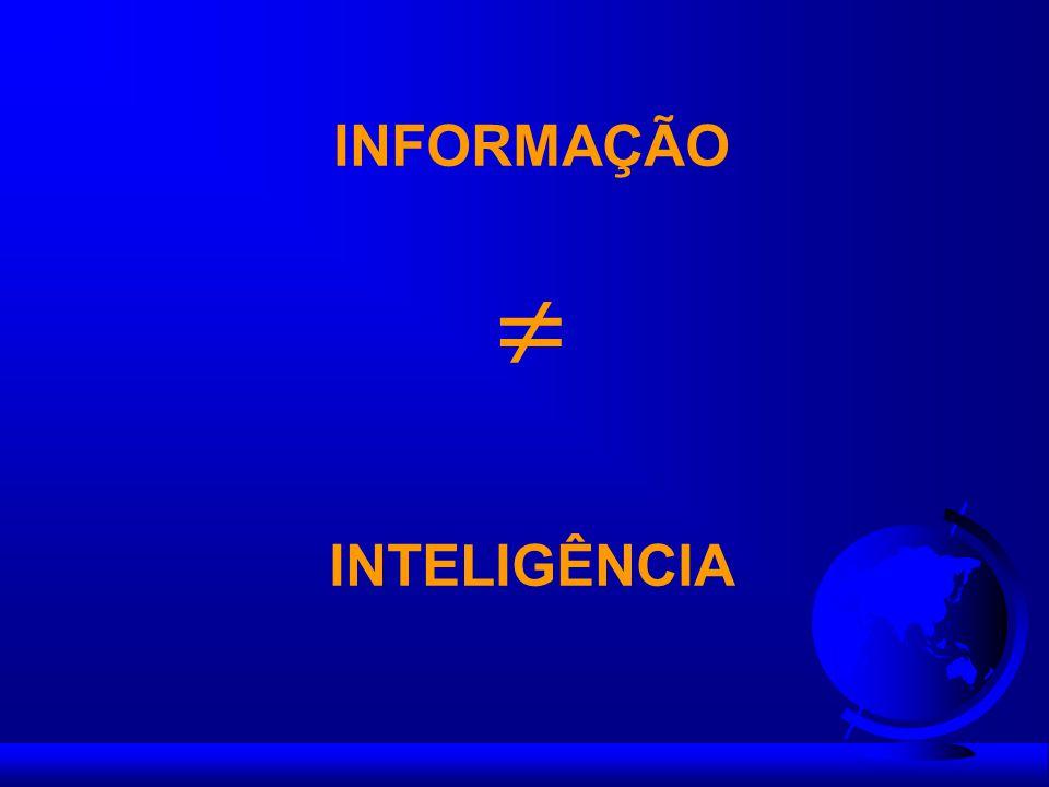 INFORMAÇÃO INTELIGÊNCIA