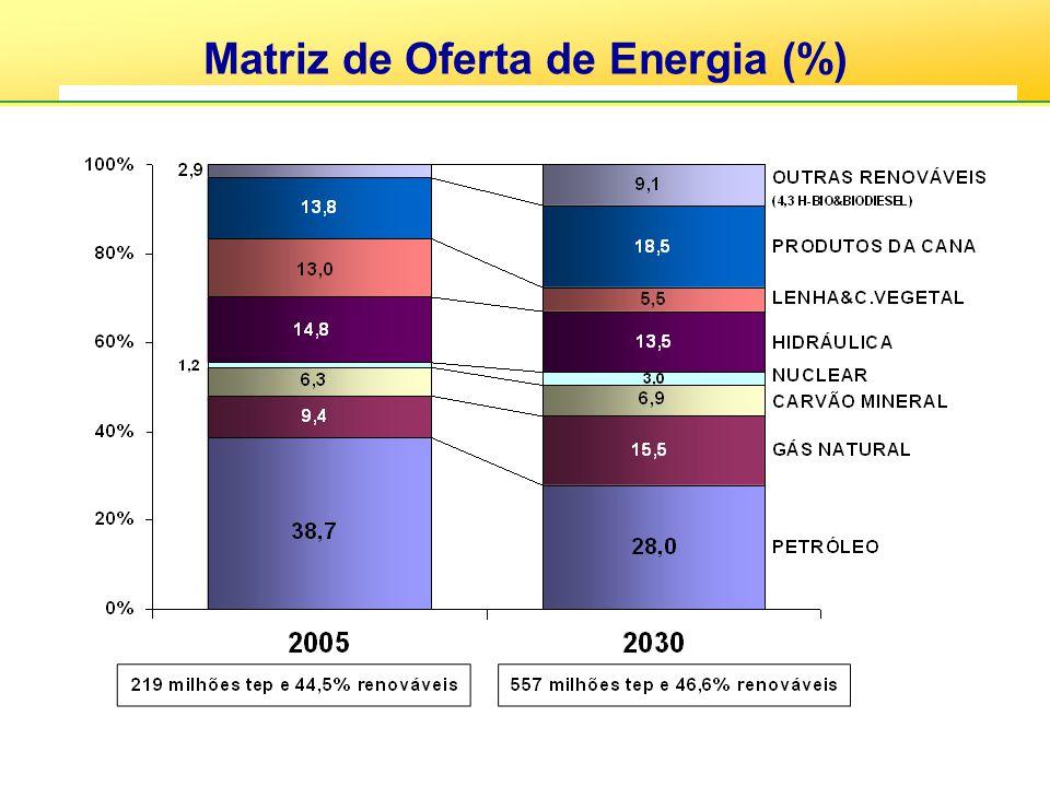Matriz de Oferta de Energia (%)