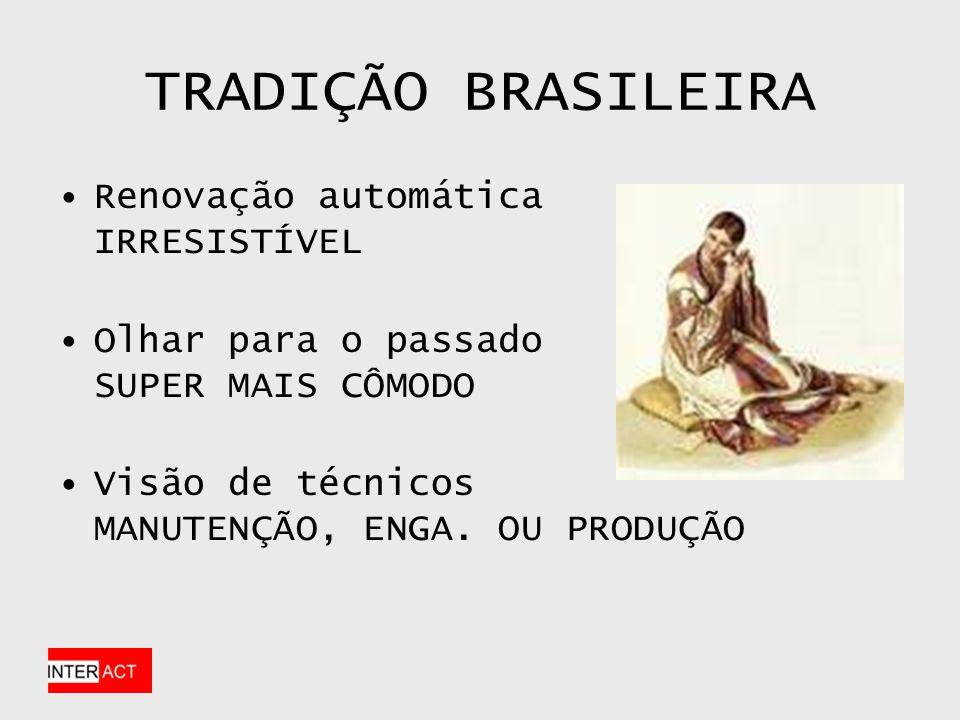 TRADIÇÃO BRASILEIRA Renovação automática IRRESISTÍVEL Olhar para o passado SUPER MAIS CÔMODO Visão de técnicos MANUTENÇÃO, ENGA.
