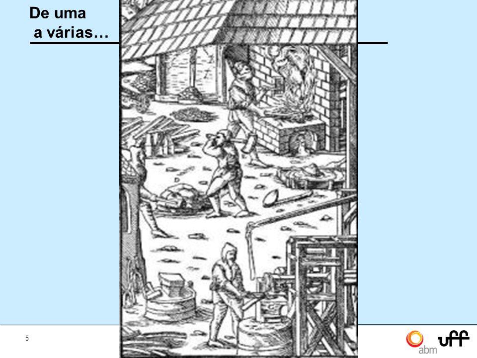 5 Mesa Redonda A sinergia entre metalurgia, materiais e mineração De uma a várias… Engenharia de Minas Mineração Engenharia Metalúrgica Engenharia de Materiais