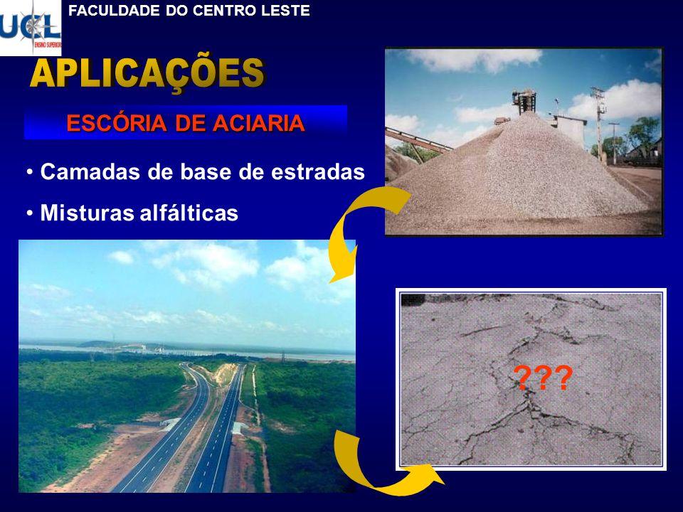 Camadas de base de estradas Misturas alfálticas ESCÓRIA DE ACIARIA ??? FACULDADE DO CENTRO LESTE