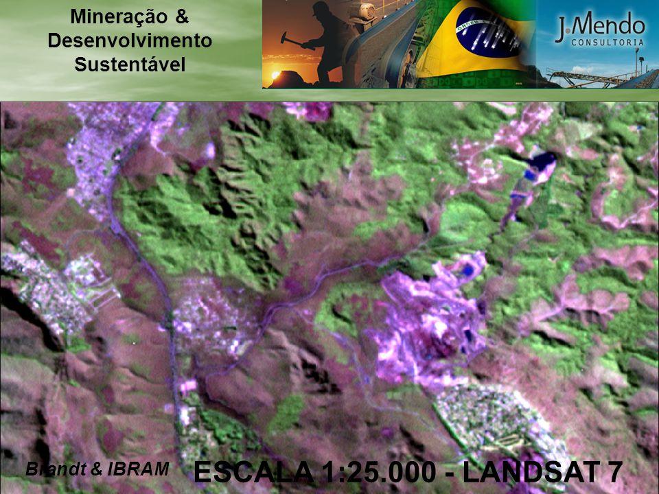 ESCALA 1:25.000 - LANDSAT 7 Brandt & IBRAM Mineração & Desenvolvimento Sustentável