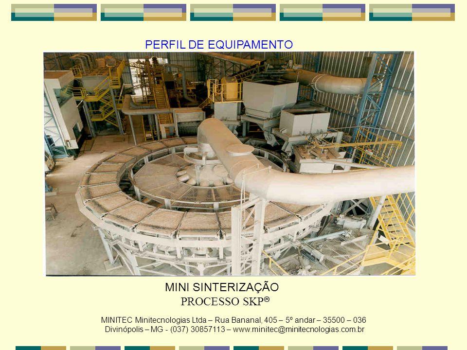 PERFIL DE EQUIPAMENTO MINI SINTERIZAÇÃO PROCESSO SKP MINITEC Minitecnologias Ltda – Rua Bananal, 405 – 5º andar – 35500 – 036 Divinópolis – MG - (037)