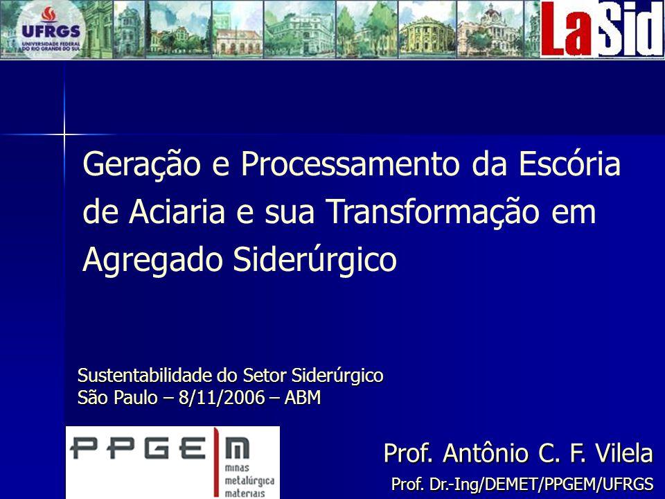 Geração e Processamento da Escória de Aciaria e sua Transformação em Agregado Siderúrgico Prof.