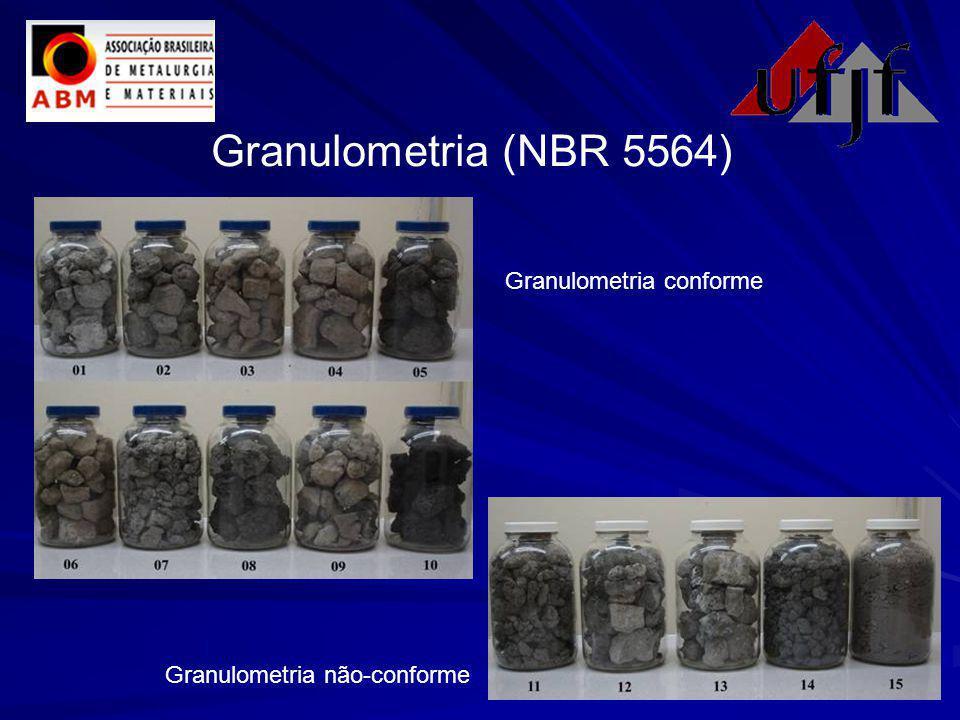 Granulometria (NBR 5564) Granulometria conforme Granulometria não-conforme