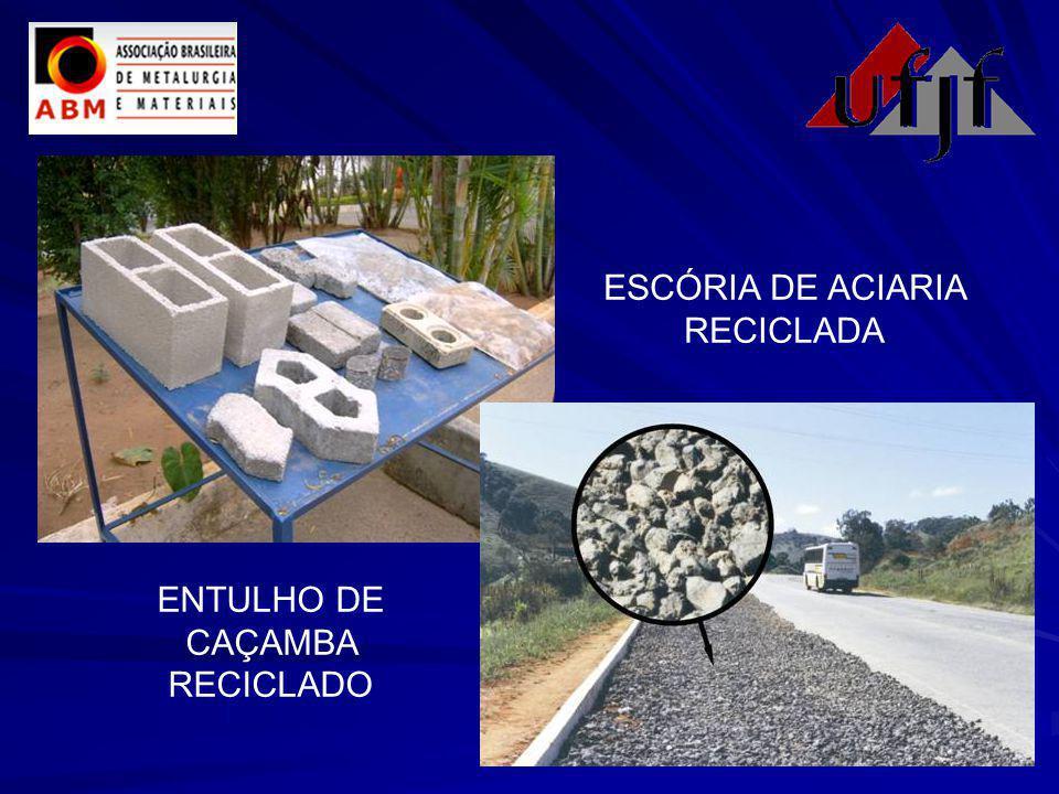 ENTULHO DE CAÇAMBA RECICLADO ESCÓRIA DE ACIARIA RECICLADA