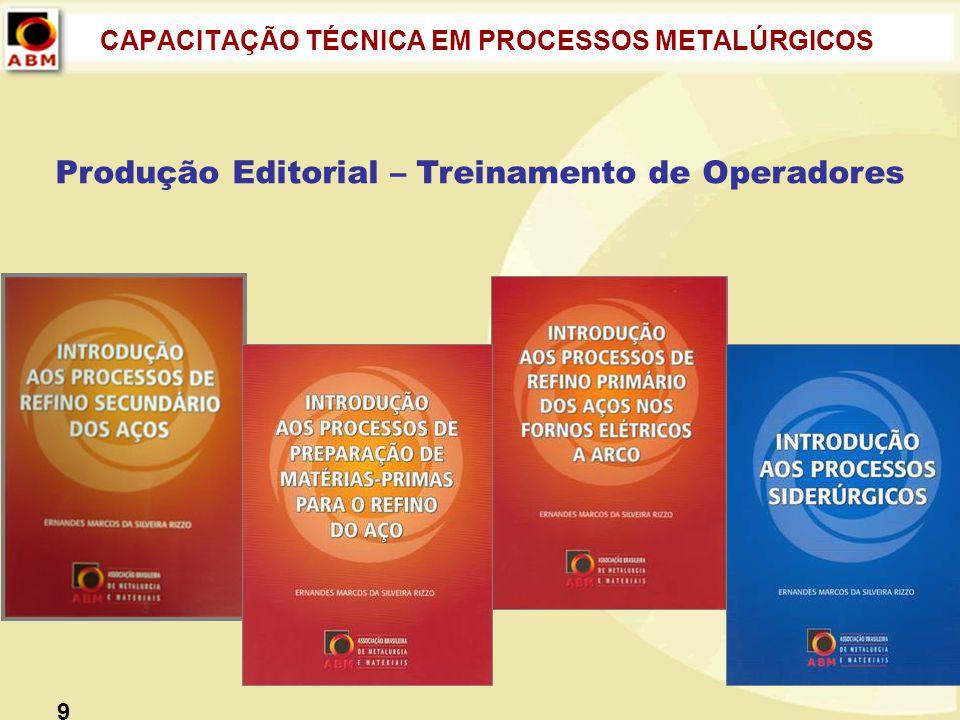 CAPACITAÇÃO TÉCNICA EM PROCESSOS METALÚRGICOS Produção Editorial – Treinamento de Operadores 9