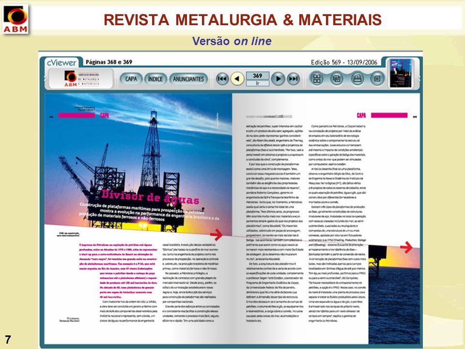 REVISTA METALURGIA & MATERIAIS Versão on line 7