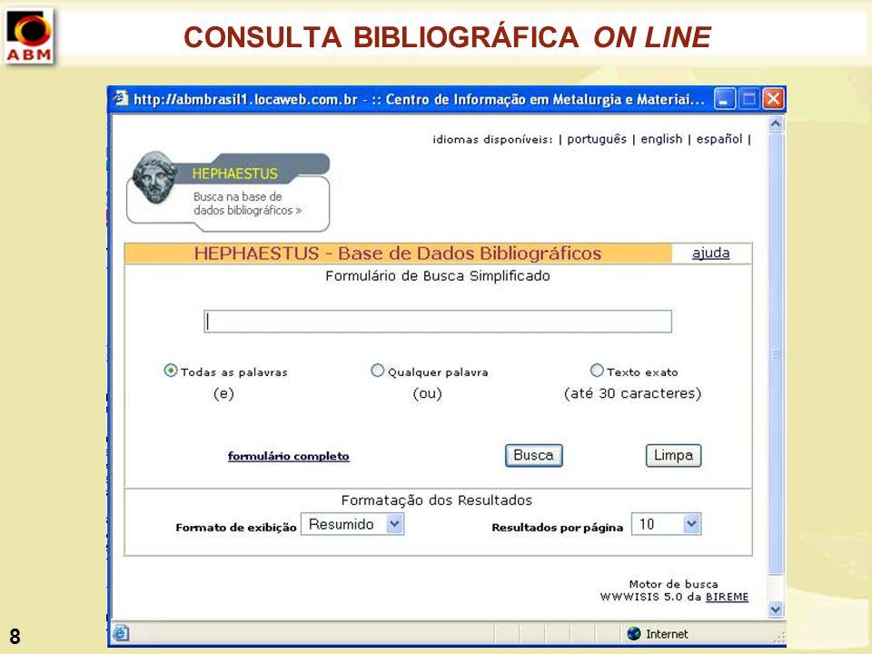 CONSULTA BIBLIOGRÁFICA ON LINE 8