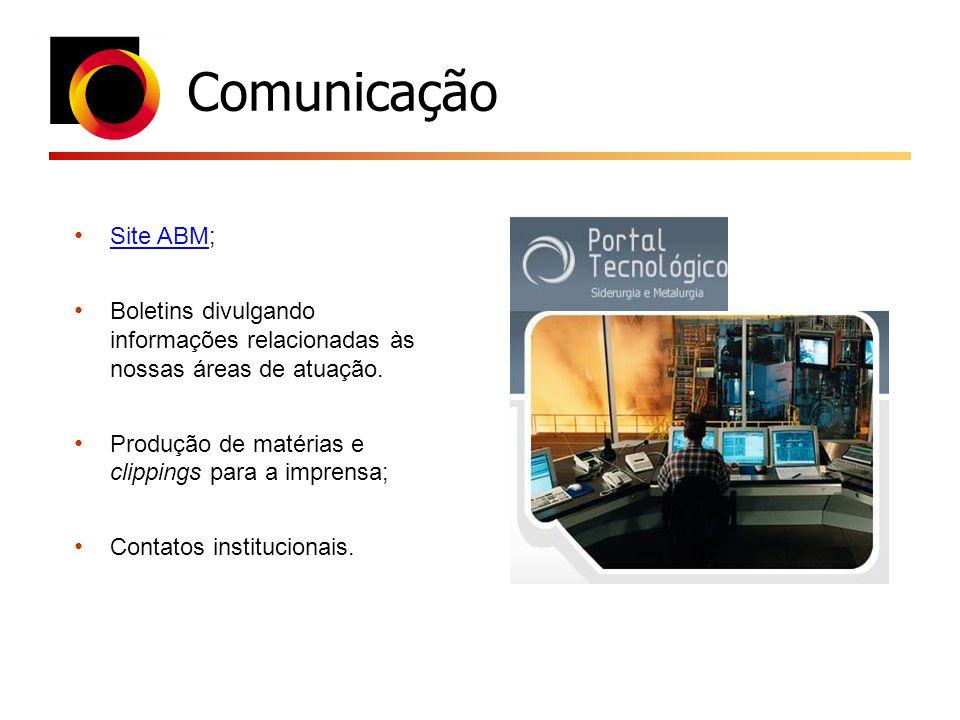 Comunicação Site ABM; Site ABM Boletins divulgando informações relacionadas às nossas áreas de atuação. Produção de matérias e clippings para a impren