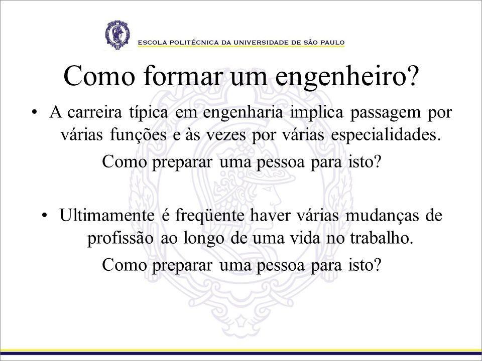 Como formar um engenheiro? A carreira típica em engenharia implica passagem por várias funções e às vezes por várias especialidades. Como preparar uma