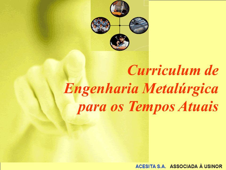 ACESITA S.A. ASSOCIADA À USINOR Curriculum de Engenharia Metalúrgica para os Tempos Atuais