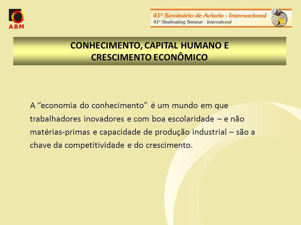 A formação do capital humano em perspectiva: o Brasil e seus concorrentes As nações bem sucedidas na economia do conhecimento implementaram amplas reformas, estruturadas em rede, em seus setores de educação, atribuindo a essas políticas um caráter prioritário