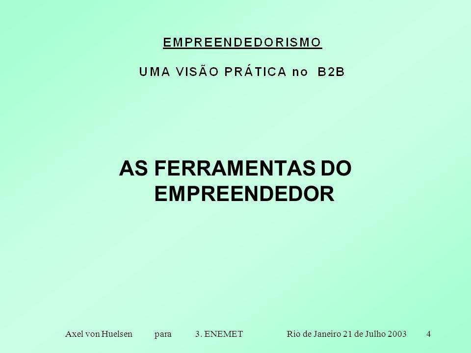 4 AS FERRAMENTAS DO EMPREENDEDOR