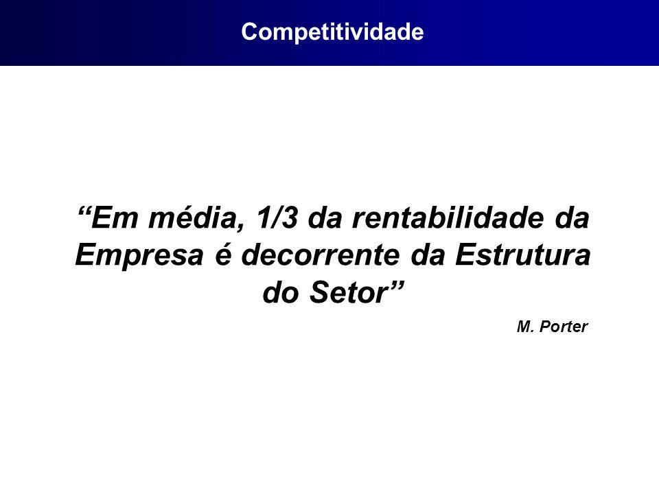 Em média, 1/3 da rentabilidade da Empresa é decorrente da Estrutura do Setor M. Porter