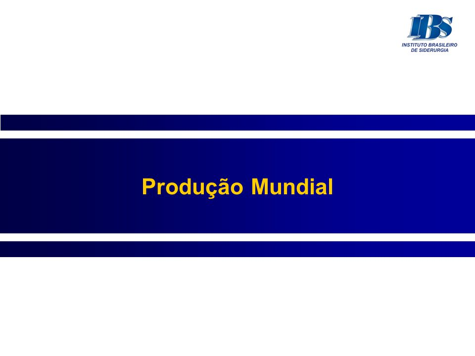 Produção Mundial