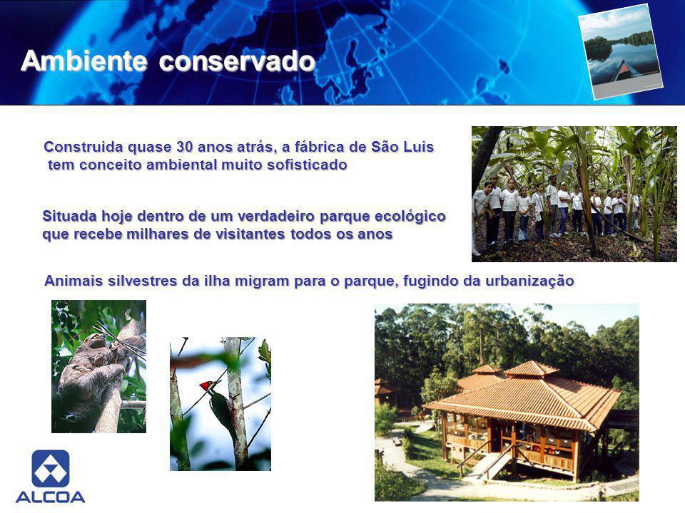 Ambiente conservado Construida quase 30 anos atrás, a fábrica de São Luis tem conceito ambiental muito sofisticado tem conceito ambiental muito sofist