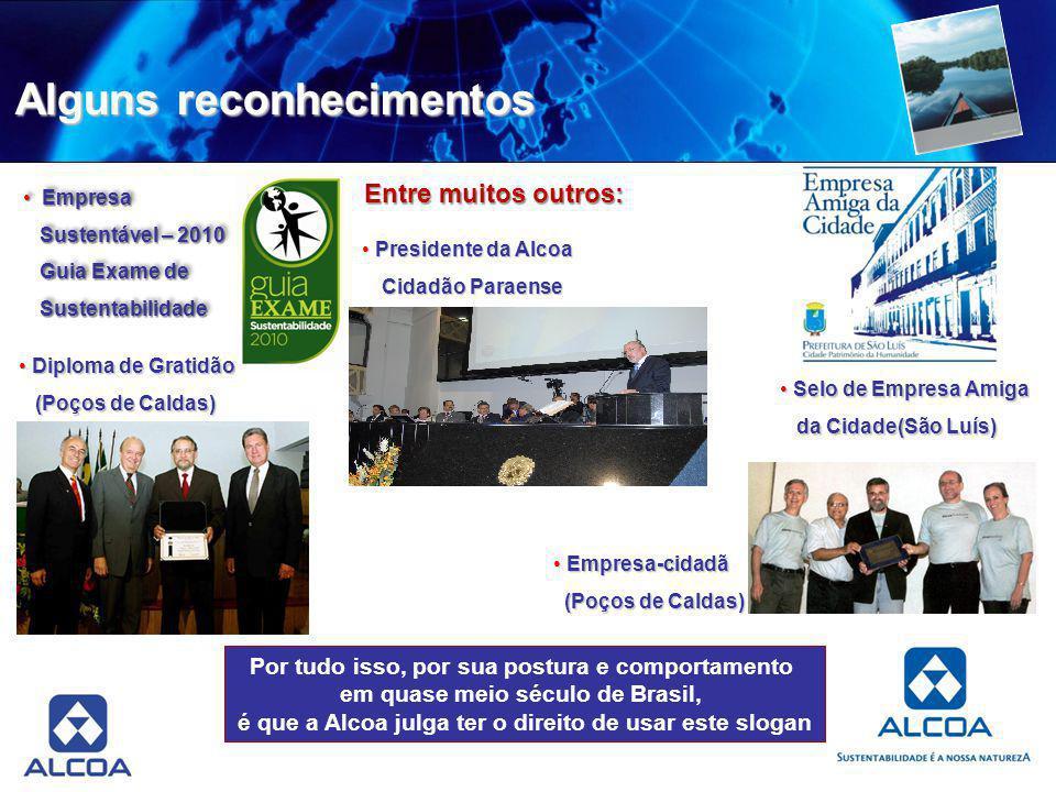 Alguns reconhecimentos Entre muitos outros: Empresa-cidadã Empresa-cidadã (Poços de Caldas) (Poços de Caldas) Diploma de Gratidão Diploma de Gratidão