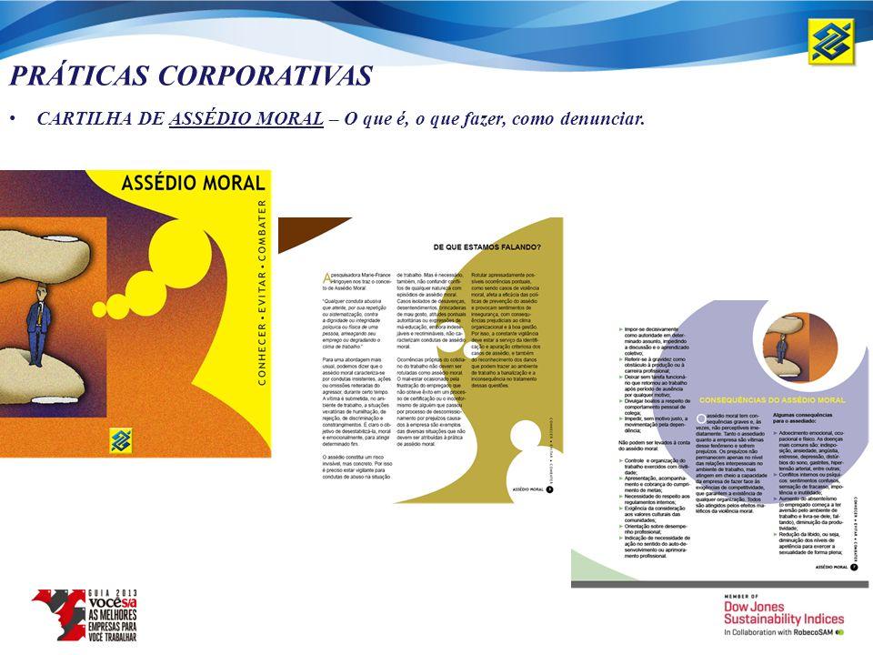 PRÁTICAS CORPORATIVAS CARTILHA DE ASSÉDIO MORAL – O que é, o que fazer, como denunciar.
