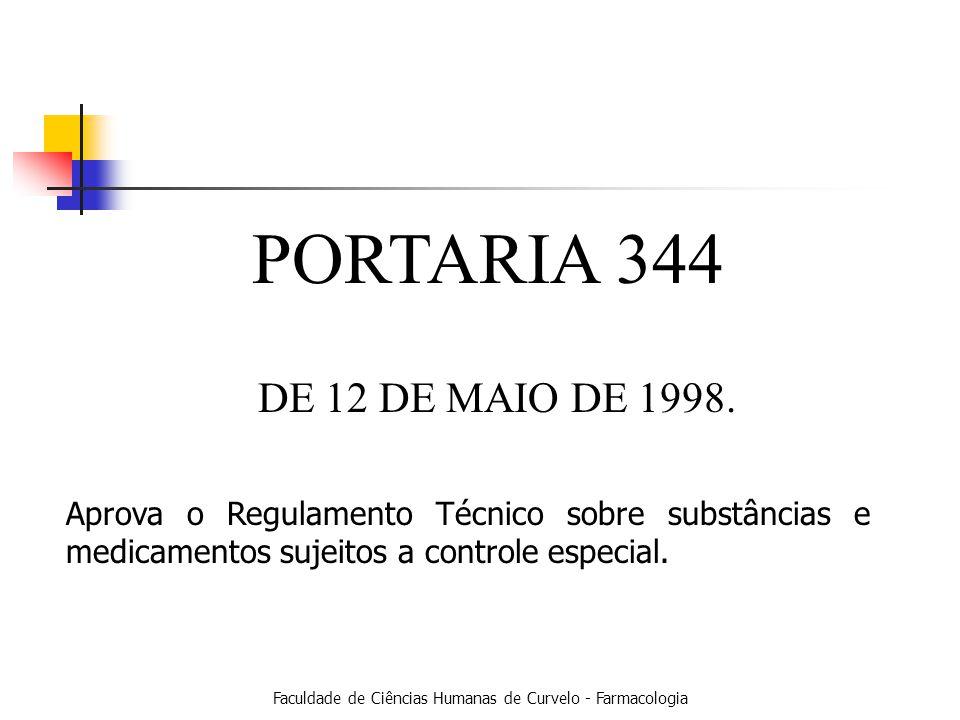 PORTARIA 344 DE 12 DE MAIO DE 1998.
