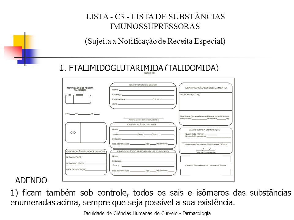 Faculdade de Ciências Humanas de Curvelo - Farmacologia 1.